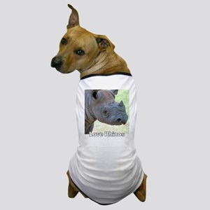 Love Rhinos Dog T-Shirt